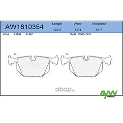 Колодки тормозные задние (AYWIparts) AW1810354