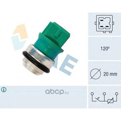 Температурный датчик охлаждающей жидкости (FAE) 34350