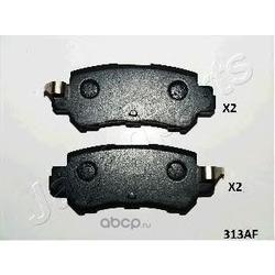 Комплект тормозных колодок, дисковый тормоз (Japanparts) PP313AF
