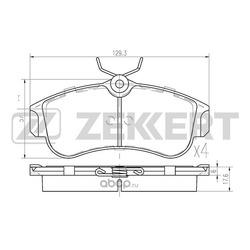 Колодки торм. диск. перед Nissan Almera (N16) 00- Primera (P10) 90- Primera (P11) 96- (Zekkert) BS2805