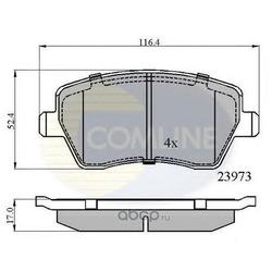 Комплект тормозных колодок, дисковый тормоз (Comline) CBP0984