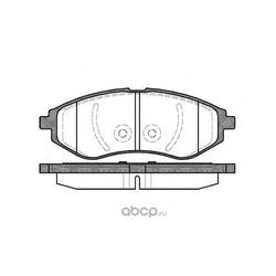 Комплект тормозных колодок, дисковый тормоз (Remsa) 098600