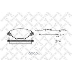 Комплект тормозных колодок, дисковый тормоз (Stellox) 839004BSX