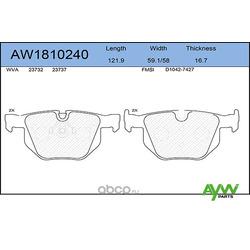 Колодки тормозные задние (AYWIparts) AW1810240