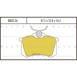Колодки тормозные дисковые (Blitz) BB0126