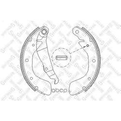 Комплект тормозных колодок (Stellox) 409100SX