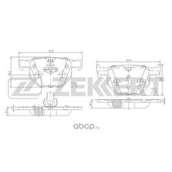 Колодки торм. диск. зад. BMW 3 (E90-E93) 05- 5 (E60 E61) 03- 6 (E63 E64) 04- X1 (e84) 09- (Zekkert) BS1017