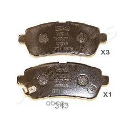 Колодки тормозные дисковые передние, комплект (Japanparts) PA343AF