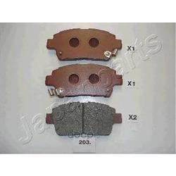 Комплект тормозных колодок, дисковый тормоз (Japanparts) PA203AF