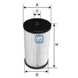 Топливный фильтр (UFI) 2600700