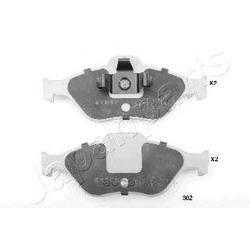 Комплект тормозных колодок, дисковый тормоз (Japanparts) PA302AF