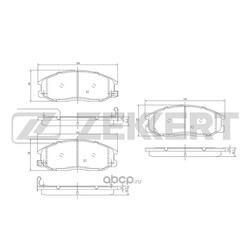 Колодки тормозные (Zekkert) BS1804