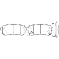 Колодки тормозные дисковые (FIT) FP1157