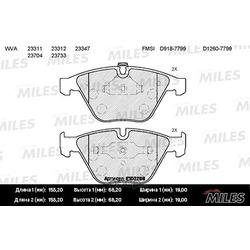 Колодки тормозные BMW E60/E61/E65 передние (Miles) E100268