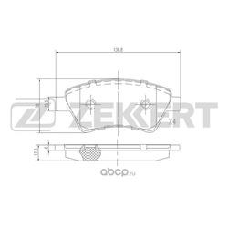 Колодки торм. диск. перед Renault Grand Scenic II 04- Kangoo I 01- Megane II 03- Scenic II 03- (Zekkert) BS2826