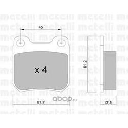 Комплект тормозных колодок, дисковый тормоз (Metelli) 2202751