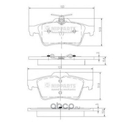 Комплект тормозных колодок, дисковый тормоз (Nipparts) N3613022