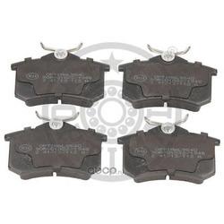 Колодки тормозные дисковые задние, комплект (Optimal) 9540
