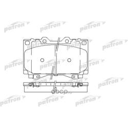 Колодки тормозные дисковые передн TOYOTA: LAND CRUISER 90-, LAND CRUISER 100 98- (PATRON) PBP1456