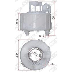 Фильтр топливный погружной HYUNDAI SOLARIS 10-/IX35 10-/KIA RIO 10-/SORENTO 09- (Sat) ST311121R000