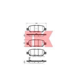 Колодки тормозные дисковые, комплект (Nk) 222257