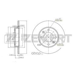 Тормозной диск (Zekkert) BS5250
