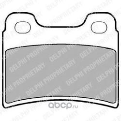 Комплект тормозных колодок, дисковый тормоз (Delphi) LP904
