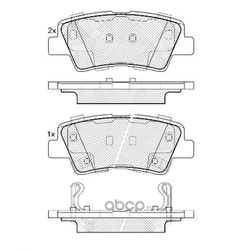 Задние колодки тормозные дисковые SolarisRio (FIT) FP1313