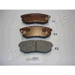 Комплект тормозных колодок, дисковый тормоз (Japanparts) PPH02AF