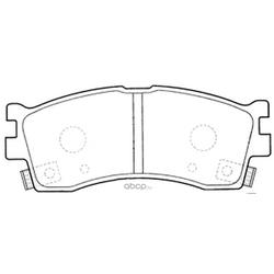 Колодки тормозные дисковые (FIT) FP0889