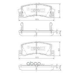 Комплект тормозных колодок, дисковый тормоз (Nipparts) J3612013