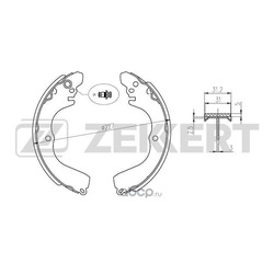 Колодки торм. бараб. зад Mitsubishi Grandis I II 00- Outlander (CU) 03- Pajero Pinin (H6 H7) 99- (Zekkert) BK4032