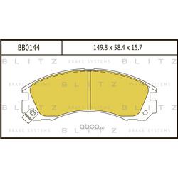 Колодки тормозные дисковые (Blitz) BB0144