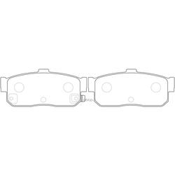 Колодки тормозные дисковые (FIT) FP0540