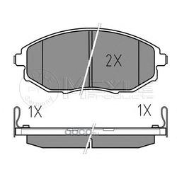 Комплект тормозных колодок, дисковый тормоз (Meyle) 0252486417W
