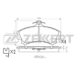 Колодки торм. диск. перед Mitsubishi Carisma (DA) 96- Colt VI 04- Volvo S40 I 96- V40 I 95- (Zekkert) BS2229