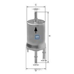 Топливный фильтр (UFI) 3184000