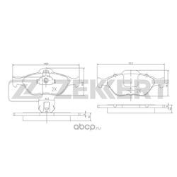 Колодки торм. диск. перед Ford Fiesta IV V 03- Fusion (JU) 02- Puma 97- Mazda 2 I 03- (Zekkert) BS1652