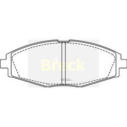 Комплект тормозных колодок, дисковый тормоз (BRECK) 232410070200