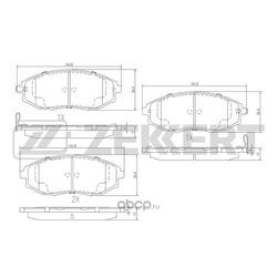 Колодки торм.диск. Chevrolet Epica 06-/ Daewoo Magnus 99- Tosca 05- FR (Zekkert) BS1313
