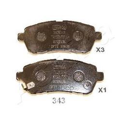 Комплект тормозных колодок, дисковый тормоз (Ashika) 5003343