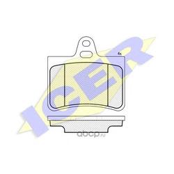 Комплект тормозных колодок, дисковый тормоз (Icer) 181407