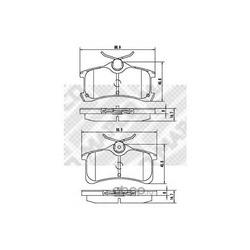 Комплект тормозных колодок, дисковый тормоз (Mapco) 6909