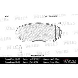 Колодки тормозные MAZDA CX-7/CX-9 07- передние (Miles) E100229