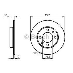 Тормозной диск (Bosch) 0986478608