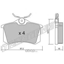 Комплект тормозных колодок, дисковый тормоз (Trusting) 1022
