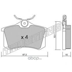 Комплект тормозных колодок, дисковый тормоз (Trusting) 1020
