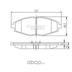 Комплект тормозных колодок, дисковый тормоз (Nipparts) J3600909