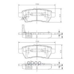 Комплект тормозных колодок, дисковый тормоз (Nipparts) J3611050