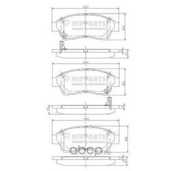 Комплект тормозных колодок, дисковый тормоз (Nipparts) J3602064